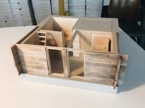 Photo d'une maquette de rénovation de Mayen par Philippe Le Roy Architecte à Nyon